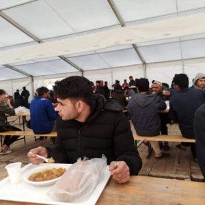 Refettorio Campo Lipa Bosnia Caritas